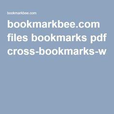 Free, printable cross bookmarks
