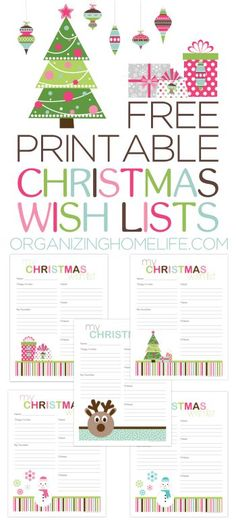Free Printable Christmas Wish Lists – Organizing Homelife – Christmas DIY Holiday Cards Free Christmas Printables, Christmas Activities, Christmas Projects, Holiday Crafts, Holiday Fun, Free Printables, Noel Christmas, Christmas Wishes, Winter Christmas