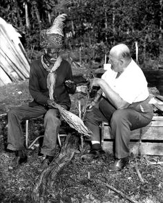 """Billy Bowlegs III, with Albert DeVane watching, """"shade cures"""" tobacco Native American History, Native American Indians, Native Americans, Seminole Florida, Oral History, Old Florida, My Heritage, First Nations, North America"""