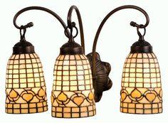 Tiffany Acorn 3 Light Vanity Light