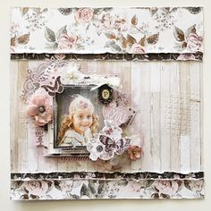 Hi friends.Kylie here today to share with you a layout I created using the Rose Quartz collection by Prima Marketing Inc., now in the Sassy...