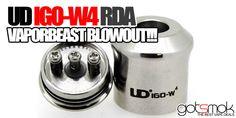 UD IGO-W4 BLOWOUT!!! $3.96 | GOTSMOK.COM Rda Atomizer, Electronic Cigarette, Vape, How To Get, Good Things, Smoke, Vaping Mods, Electronic Cigarettes