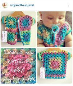 Best 12 2 crochet for kids granny square – SkillOfKing. Crochet Baby Poncho, Newborn Crochet Patterns, Crochet Baby Sweaters, Crochet Baby Clothes, Baby Patterns, Baby Knitting, Crochet Crafts, Crochet Projects, Motifs Granny Square