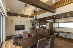 群青色の平屋・間取り(福岡県福岡市) | 注文住宅なら建築設計事務所 フリーダムアーキテクツデザイン