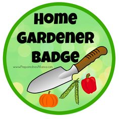 The home gardener badge from the 1954 Girl Scout Handbook. Could you earn it? | PreparednessMama