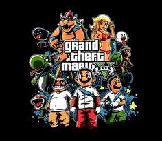 Co si přáli naši dědečkova a babičky na 10te narozeniny.Jasně že Grand Theft Mario 5.