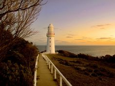 Cape Otway, Victoria, Australia. Cape Otway is the oldest, surviving lighthouse on Australia's mainland. In operation since 1848, this lighthouse was the first sight of land for thousands of European immigrants.