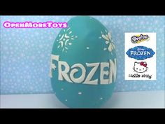 Disney Frozen Giant Surprise Egg Play Doh with Shopkins Hello Kitty Toys - YouTube
