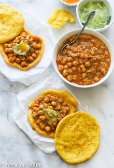 Doubles (Curry Chickpeas and Flat Bread)