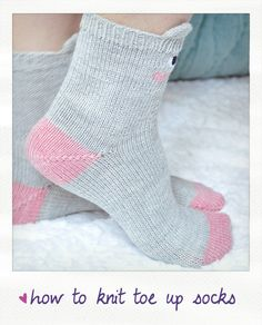 how to knit a toe up socks video tutorial Knitting Patterns Free, Free Pattern, Knit Crochet, Toe, Socks, Knits, Stockings, Sewing Patterns Free, Crochet