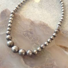 Vintage Mexican Navajo Pearls Graduated Artisan-Made by OKOgallery