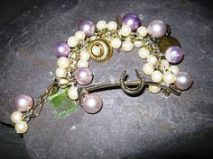 HANDMADE IN ENGLAND 'Pony Club' Vintage Pearl Charm by HollyDaise, £22.99