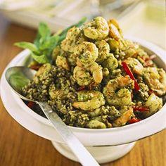 Garlic+Shrimp+with+Green+Rice+Recipe+-+ZipList