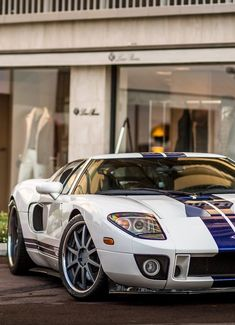 Ford GT my all time favorite car. This car is just so sleek and fast and is based on the Ford GT 1966 Maserati, Bugatti, Lamborghini, Ferrari, Ford Motor Company, Ford Gt40, Alfa Romeo, Aston Martin, Toyota