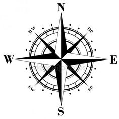 Compass Illustrations and Clip Art. Compass royalty free illustrations and drawings available to search from thousands of stock vector EPS clipart graphic designers. Simple Compass Tattoo, Nautical Compass Tattoo, Compass Rose Tattoo, Compass Tattoo Design, Inspiration Tattoos, Bussola Tattoo, Tatuagem Diy, Tattoo Dotwork, Compass Tattoo