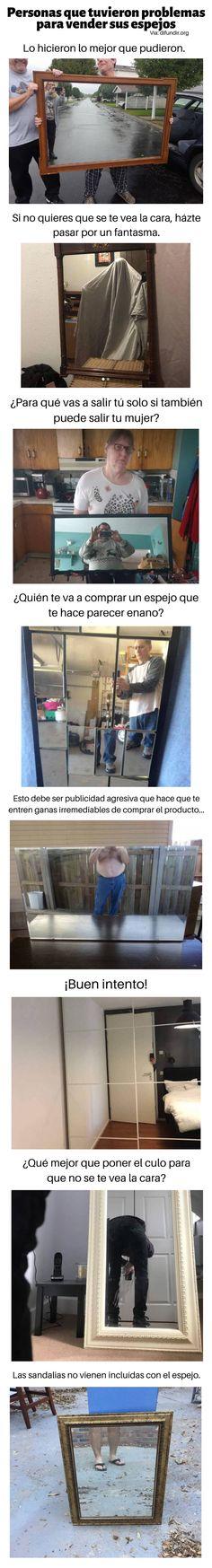 Personas que tuvieron problemas para vender sus espejos