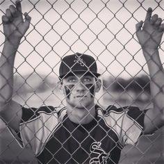 Senior Portrait / Photo / Picture Idea - Boys / Guys - Baseball - Fence