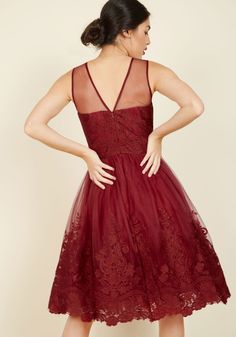 Radiant Reunion Lace Dress. Flaunting this red dress from Chi Chi London, you strut into your ivy league reunion with chic confidence. #red #prom #modcloth