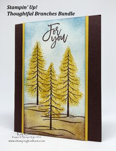 See the how to video at Stamping to Share: http://www.stampingtoshare.com/2016/07/create-tamarack-trees-with-thoughtful.html