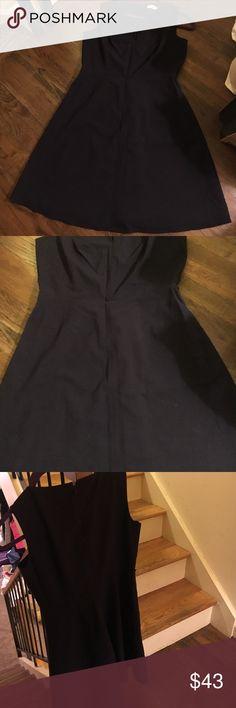 "Calvin Klein blue dress Calvin Klein navy blue dress. Zippers on back. Sleeveless dress 24"" from waist to hem. In great condition. Calvin Klein Collection Dresses"