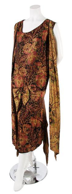 Woven silk dress, c. 1924
