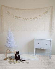 All I Want For XMas Is You Banner from Nice! Love the inspiration, love the Constable kitty cameo.