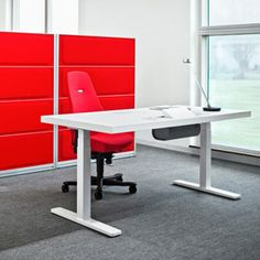 Product name: Rezon. Company: Kinnarps. Why we like it: Functional and contemporary, visually interesting aesthetic