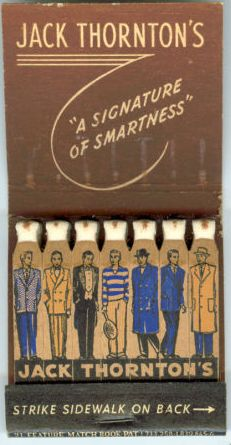 Jack Thornton's Fashion #feature #matchbook Order your logo #matches at GetMatched.com