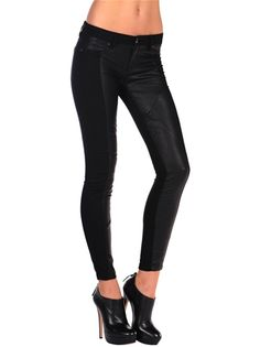 Blank nyc Super skinny with Vegan Leather Panels $88