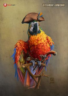 ArtStation - Pirate parrot, Vladimir Gulevskiy