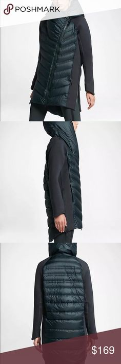 Nike aeroloft tech down parka An ultra-protective layer, the Nike Sportswear Tech Fleece AeroLoft Women's Down Parka features breathable insulation and lightweight fleece engineered for optimal warmth in cold conditions. An elongated, three-quarter cut provides extra coverage, while an all-over, water-repellent finish deflects rain and snow Nike Jackets & Coats
