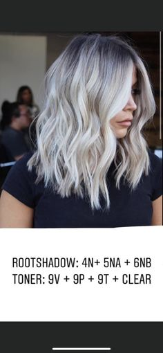 Cool Blonde Balayage, Blonde Hair Shades, Platinum Blonde Hair, Hair Color Formulas, Redken Color Formulas, Best Blonde Toner, Lanza Hair Color, Redken Hair Color, Redken Hair Products