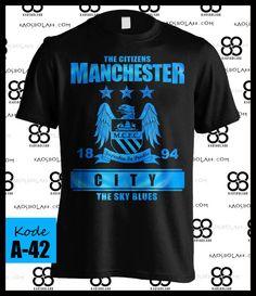 Kaos Manchester City Logo The Citizens | Kaos Bola 88 | Toko Distro Baju Kaos Bola Online Yogyakarta