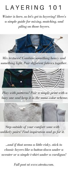 A Simple Guide To Layering || How To Layer || Winter Wardrobe || Women's Fashion