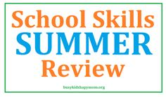 Great list to review each summer.  Kids can lose up to 2 months of knowledge over the summer!  K-6 grades.