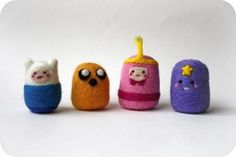 Adventuretime Needle-felteds -- OMG. I need these because of reasons.