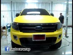 Ford Ranger Wrap Matt Yellow by Autocar Wrap
