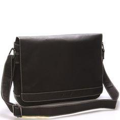 9be3434907 Pánská kožená taška přes rameno tmavě hnědá - WILD Varden
