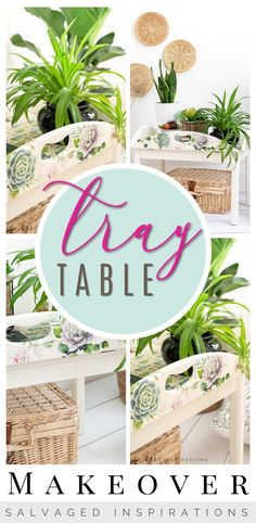 TRAY TABLE MAKEOVER | Belles and Whistles Cacti & Succulent on Tray Table | Salvaged Inspiration #siblog #salvagedinspirations #paintedfurniture #furniturepainting #DIYfurniture #furniturepaintingtutorials #howto #furnitureartist #furnitureflip #salvagedfurniture #furnituremakeover #beforeandafterfurnuture #paintedvintagefurniture #roadsiderescues #chalkpaint #chalkpaintedfurniture #diyprojects #diyfurnituremakeover #furniturerestoration #furnitureideas Painted Furniture For Sale, Salvaged Furniture, Happy Paintings, Cool Paintings, Repainting Furniture, Paint Furniture, Faux Wood Wall, Jewelry Box Makeover, Diy Painting