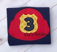 Fireman Hat Number Applique Set - 3 Sizes! | What's New | Machine Embroidery Designs | SWAKembroidery.com CeCe Stitches