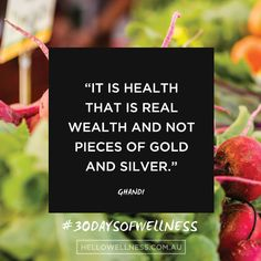 What's the point in wealth without health? #wellness