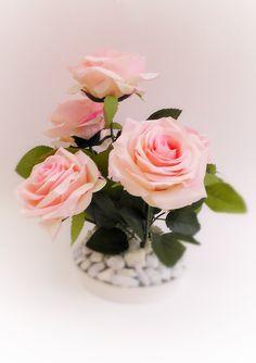 Flower Arrangement Home Decor Decor ideas Pink roses Original Realistic ideas