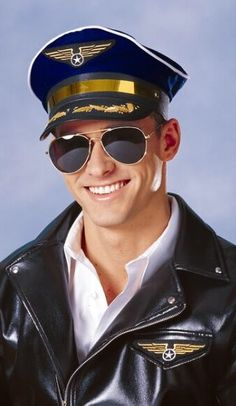 d106a902 NAVY BLUE PILOT CAPTAIN HAT CAP AVIATOR AIRPLANE AIR FORCE AIRLINE COSTUME  HAT | Soon Jasha | Pinterest | Pilot, Aviation and Costumes