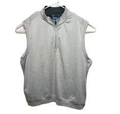 PGA Tour Mens Golf Vest Size XXL Gray Sleeveless Pullover Front 1/4 Zip Pockets #PGATour #Vest Mens Golf Outfit, Golf Attire, Sharp Dressed Man, Underarm, Men Dress, Vest, Pullover, Zip, Pockets