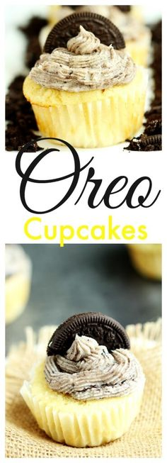 Oreo Cupcakes- From scratch vanilla cupcakes, topped with oreo buttercream. Perfect blend of cookies and cream. Homemade and fabulous, everyone will want more.