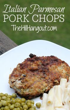 Italian Parmesan Pork Chops from TheHillHangout.com are a delicious dinner recipe.