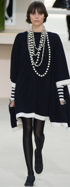 Chanel ~ Resort Black + White Dress 2016                                                                                                                                                      More