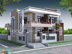 5 Bedroom Contemporary House Views House Design Duplex inside sizing 1500 X 1125 Modern 5 Bedroom House Designs - A bedroom needs to be the coziest corner from the […] 2 Storey House Design, Duplex House Design, House Front Design, Small House Design, Modern House Design, Duplex House Plans, Flat Roof House, Facade House, Style At Home