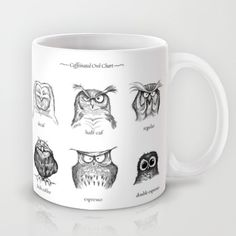These owls delight me! :: Caffeinated Owls Mug