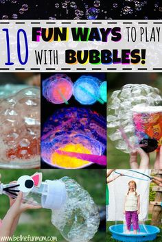 10 Fun Bubble Activities your kids will love!